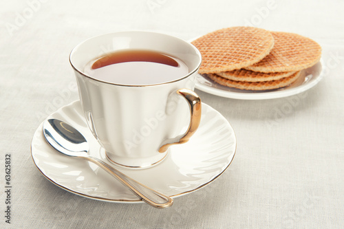 waffles and tea