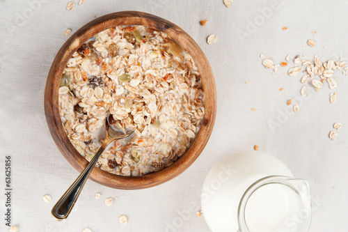 muesli with milk