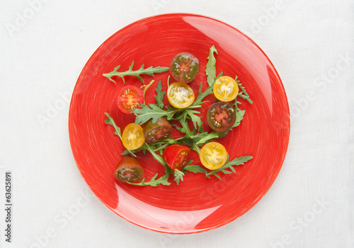Tomato salad with arugula