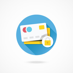 Vector Credit Card Protection Concept Icon
