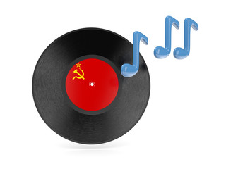 Vinyl disk with flag of ussr