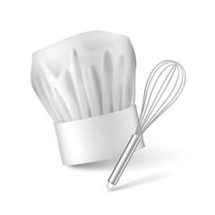 Fouet et toque de cuisinier vectoriels 1