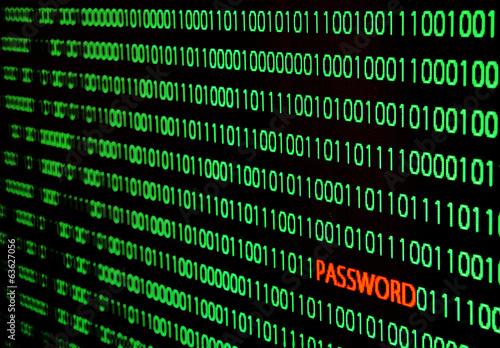 binary code with password theft