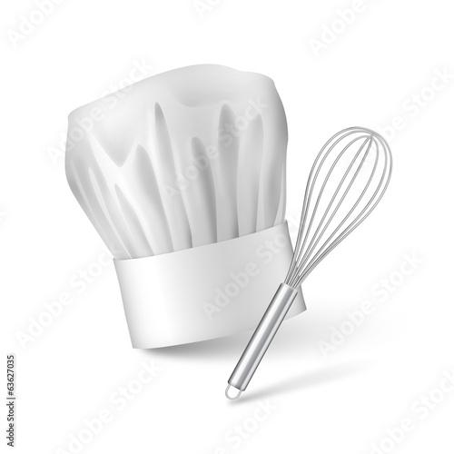Vecteur fouet et toque de cuisinier vectoriels 1 for Cuisinier 71