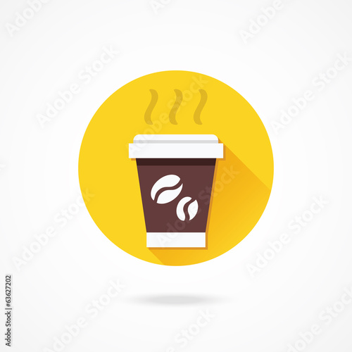 Vector Paper Coffee Cup Icon