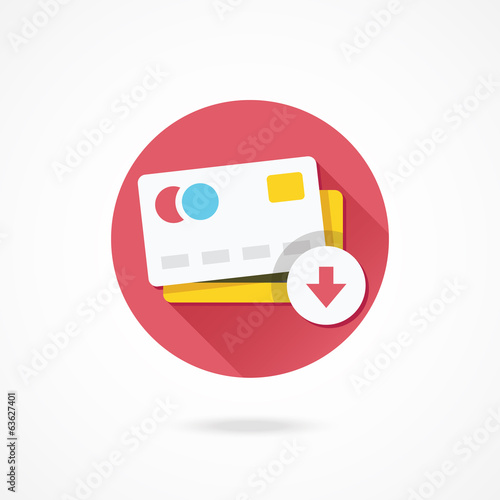 Vector Remove Credit Card Icon