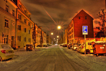 street of Ostrava, Czech republic (HDR)