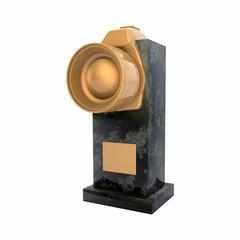 Golden award of the photographer 3d