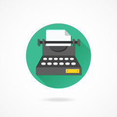 Vector Typewriter Icon