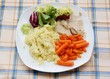 roasted turkey white meat with vegetables