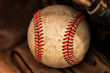 Baseball glove with ball - 63628022