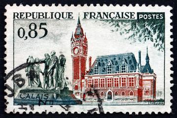 Postage stamp France 1961 City Hall, Calais