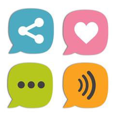Bocadillo comunicacion social media