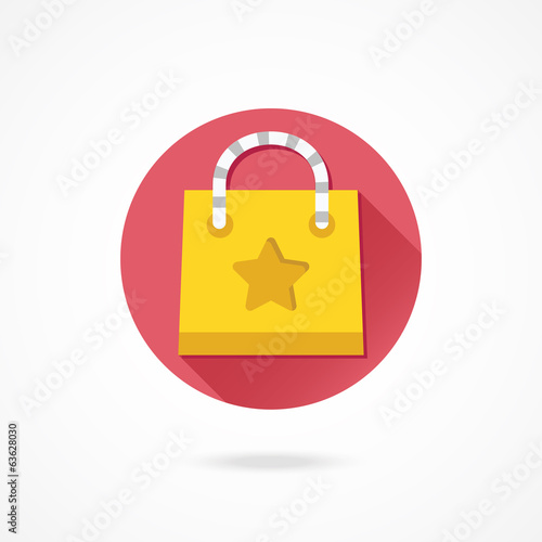 Vector Yellow Shopping Bag Icon