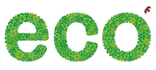 ecoの文字形のクローバー