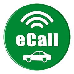 Button eCall in grün - g784