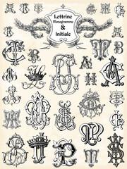 Lettrine Monogramme & initiale
