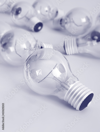 concept wallpaper with lots of light bulbs
