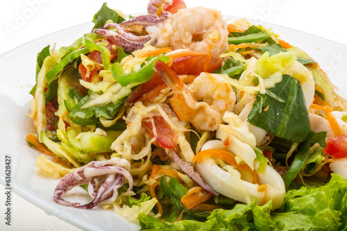 Asian seafood salad