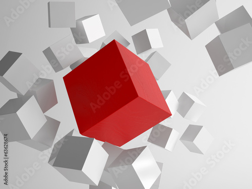3d rendering of cubes