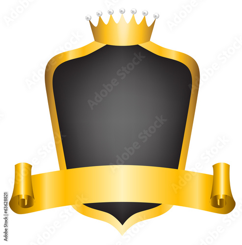 crown and ribbon
