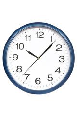 Blue border wall clock