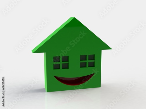 House emotions 3d background