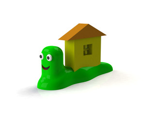 Slug house 3d background