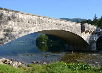 Stone Bridge at Lake Bohinj