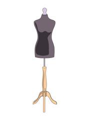 Vector women's mannequin drawing