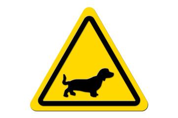 Warnschild Gelb Dackel