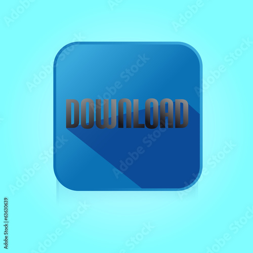 Flat Color Download Icon