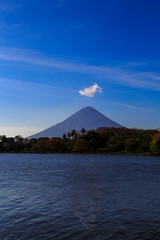Ometepe view with blue sky