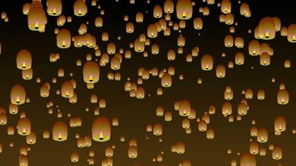 Chinese sky lanterns.