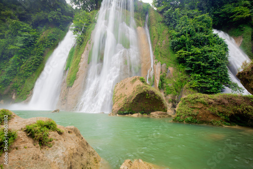 Big Waterfall at Cikaso Indonesia