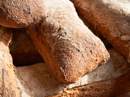 Rural bread on Provence market