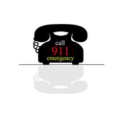 emergency call phone vector