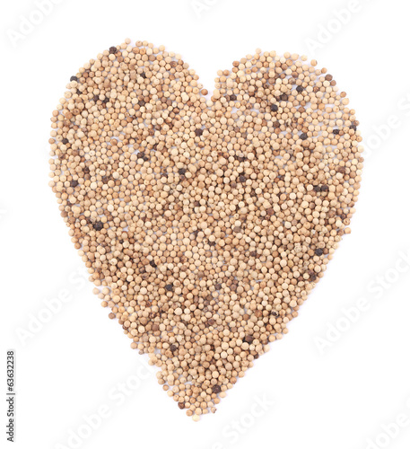 Heart of white pepper.