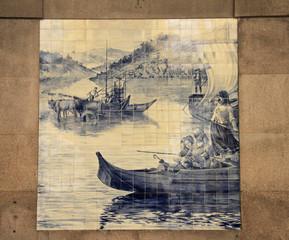 Azulejo (ceramic tile) in Porto