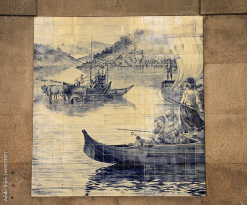 Azulejo (ceramic tile) in Porto