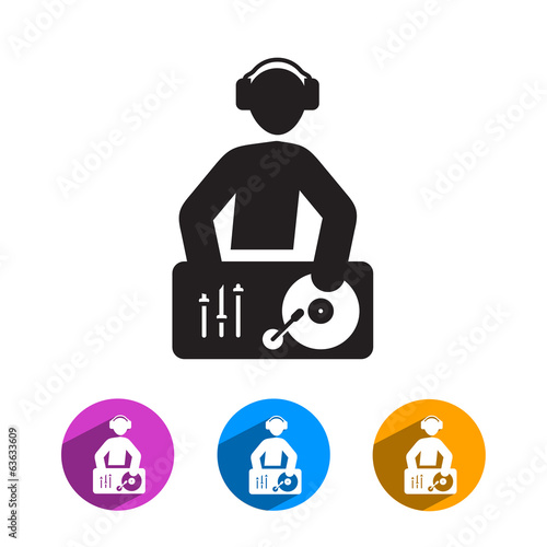 DJ icon. Vector format
