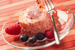 Sweet roll cake with berries