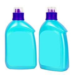 Light blue plastic bottles for liquid soap