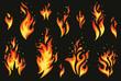 Set of fires.