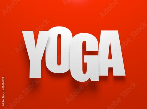 Yoga on red.
