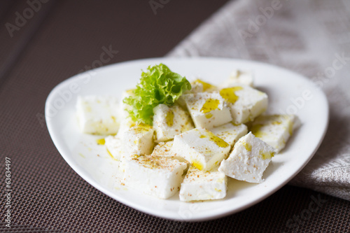 Healthy salad with cottage cheese