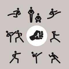 Karate. Vector format