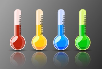 Shiny Colorful Thermometer