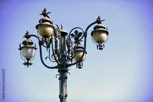 Vintage lighting pole