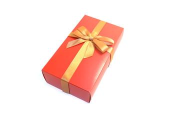 подарок коробка  бант на белом фоне
